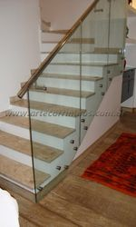 Corrimão de vidro para escada