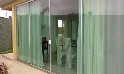 Porta de vidro de casa