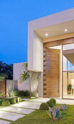 Porta de vidro fachada