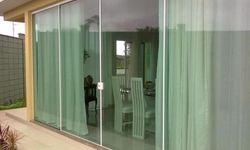 Porta de vidro temperado para varanda