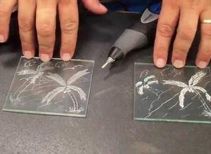gravar em vidro