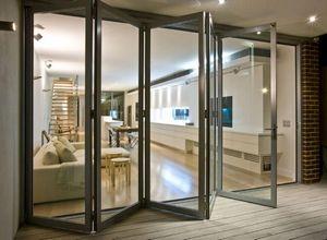 porta sanfonada de vidro