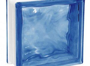 tijolo de vidro azul