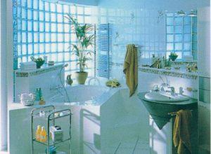 tijolo transparente de vidro