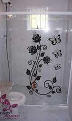 Box de vidro decorado