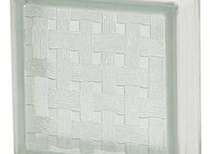 bloco de vidro wave 19x19cm incolor