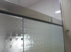 box de vidro quadrado