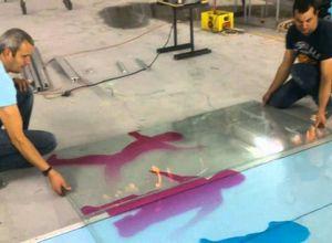 cortar vidro laminado