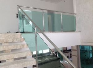 escadas vidro inox