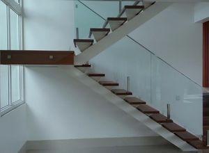 guarda corpo escada vidro
