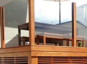 guarda corpo madeira varanda