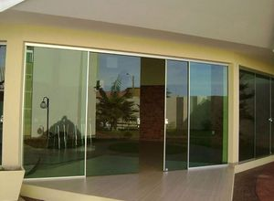 porta de vidro de varanda