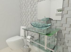 vidro banheiro